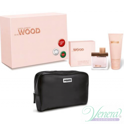 Dsquared2 She Wood Комплект (EDP 50ml + Body Lotion 100ml  +Bag) за Жени За Жени