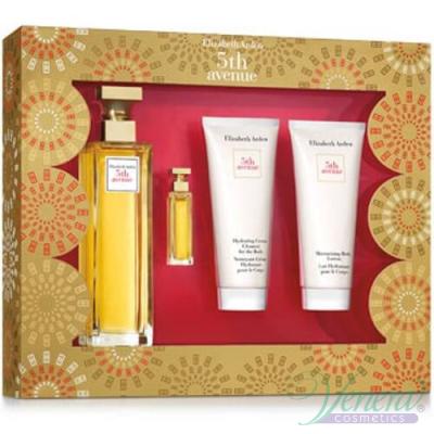 Elizabeth Arden 5th Avenue Set (EDP 125ml + EDP 7ml + BL 100ml + Cream 100ml) за Жени За Жени