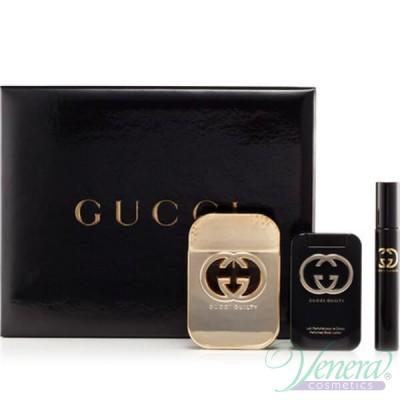 Gucci Guilty Комплект (EDT 75ml + EDT 7.5ml + BL 100ml) за Жени Дамски Комплект