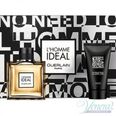 Guerlain L'Homme Ideal Комплект (EDT 100ml + Shower Gel 75ml) за Мъже