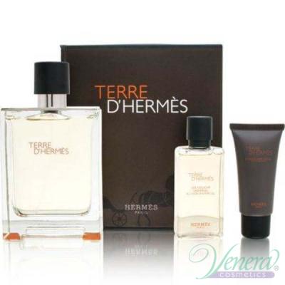 Hermes Terre D'Hermes Комплект (EDT 100ml + SGel 40ml + After Save Balm 15ml) за Мъже