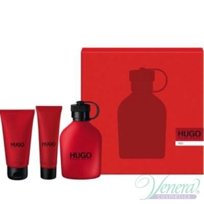 Hugo Boss Hugo Red Комплект (EDT 75ml + After Shave Balm 50ml + SG 50ml) за Мъже