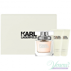 Karl Lagerfeld for Her Комплект (EDP 85ml + BL 100ml + SG 100ml) за Жени