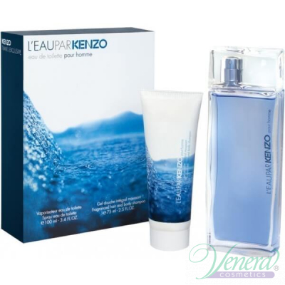 Kenzo L'Eau Par Kenzo Комплект (EDT 100ml + Shower Gel 75ml) за Мъже Мъжки Комплекти