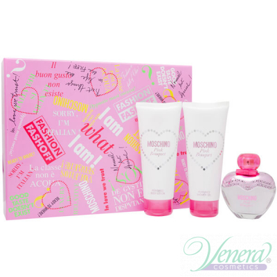 Moschino Pink Bouquet Комплект (EDT 50ml + SG 100ml + BL 100ml) за Жени Дамски Комплекти