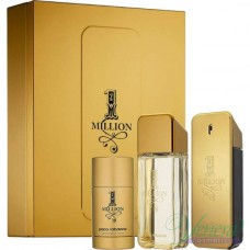 Paco Rabanne 1 Million Комплект (EDT 100ml + AS Lotion 100ml + Deo Stick 75ml) за Мъже