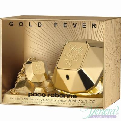 Paco Rabanne Lady Million Gold Fever (EDP 80ml + Бижу) за Жени Дамски комплекти
