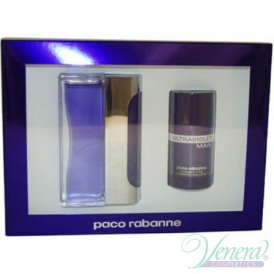 Paco Rabanne Ultraviolet Комплект (EDT 100ml + Deo Stick 75ml) за Мъже За Мъже