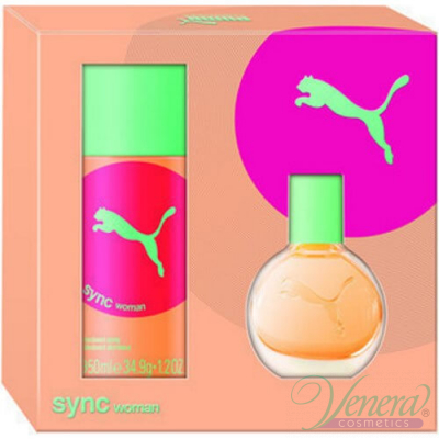 Puma Sync Комплект (EDT 20ml + Deo Spray 50ml) за Жени Women's Gift sets