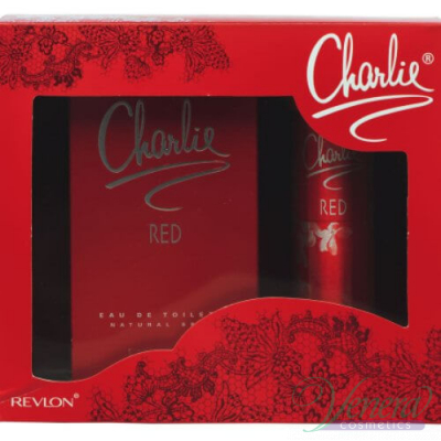 Revlon Charlie Red Комплект (EDT 100ml + Deo 75ml) за Жени За Жени