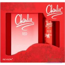 Revlon Charlie Red Комплект (EDT 100ml + Deo 75ml) за Жени