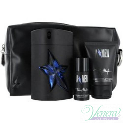 Thierry Mugler A*Men Комплект (EDT 100ml + Deo Stick 20ml + SG 50ml + Bag)  за Мъже