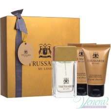 Trussardi My Land Комплект (EDT 30ml + AS Balm 30ml + SG 30ml) за Мъже