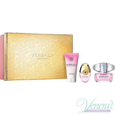 Versace Bright Crystal Комплект (EDT 50ml + EDT 10ml + BL 50ml) за Жени За Жени