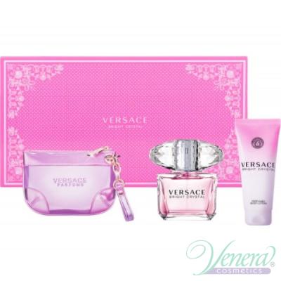 Versace Bright Crystal Комплект (EDT 90ml + BL 100ml + Чанта) за Жени