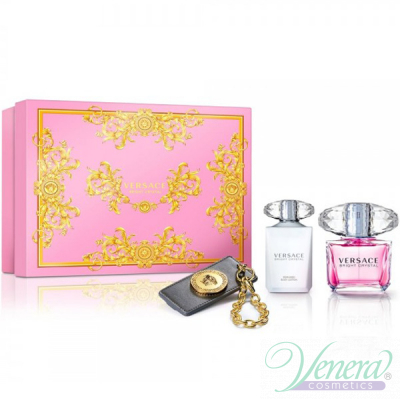 Versace Bright Crystal Комплект (EDT 90ml + BL 100ml + Ключодържател) за Жени