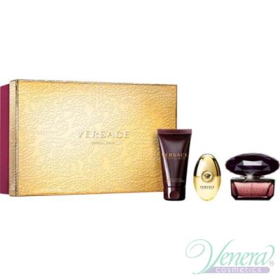 Versace Crystal Noir Set (EDT 50ml + EDT 10ml + BL 50ml) за Жени