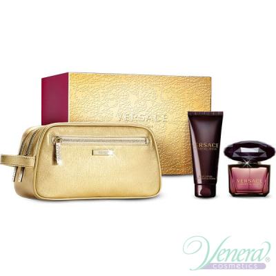 Versace Crystal Noir Комплект (EDT 90ml + BL 100ml + Bag) за Жени За Жени