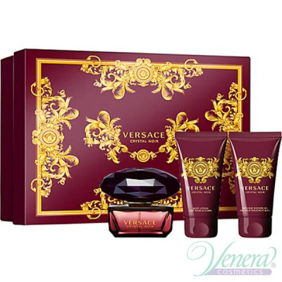 Versace Crystal Noir Set (EDT 50ml + BL 50ml + SG 50ml) за Жени За Жени
