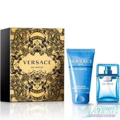 Versace Man Eau Fraiche Комплект (EDT 30ml + Shower Gel 50ml) за Мъже