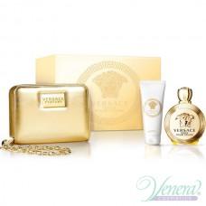 Versace Eros Pour Femme Комплект (EDP 100ml + BL 100ml + Bag) за Жени
