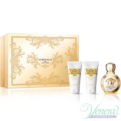 Versace Eros Pour Femme Комплект (EDP 50ml + BL 50ml + SG 50ml) за Жени Дамски Комплекти