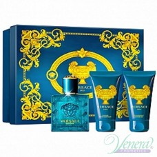 Versace Eros Комплект (EDT 50ml + AS Balm 50ml + SG 50ml) за Мъже