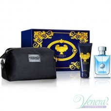 Versace Pour Homme Комплект (EDT 100ml + Shower Gel 100ml + Несесер) за Мъже