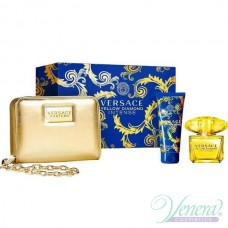 Versace Yellow Diamond Intense Комплект (EDT 90ml + BL 100ml + Bag) за Жени