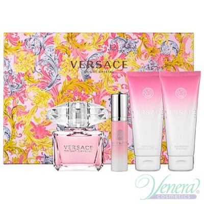 Versace Bright Crystal Комплект (EDT 90ml + EDT 10ml + BL 100ml + SG 100ml) за Жени За Жени