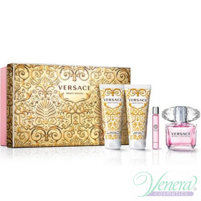 Versace Bright Crystal Комплект (EDT 50ml + EDT 10ml + BL 50ml + SG 50ml) за Жени За Жени