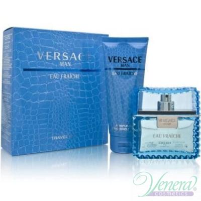 Versace Man Eau Fraiche Комплект (EDT 100ml +SG 100ml) за Мъже