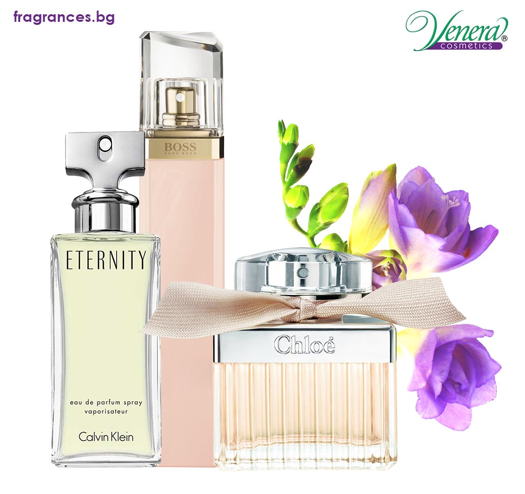 Perfumes with freesia